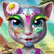 Игра Игра Говорящая Анжела: пляжный макияж