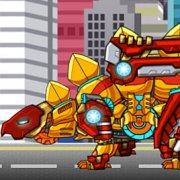 Игра Игра Роботы динозавры: собирать золотого Стегозавра