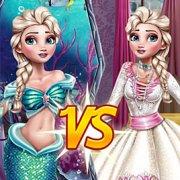 Игра Игра Эльза принцесса или русалочка