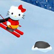 Игра Игра Hello Kitty на лыжах