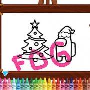 Игра Игра Амонг Ас Новогодняя Раскраска
