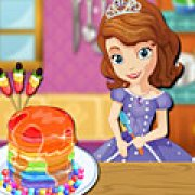Игра Игра София готовит радужные блины