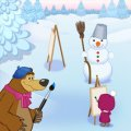 Игра Игра Маша и Медведь: Кто Нарисовал?