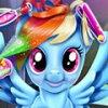Игра Игра Пони Радуга Дэш: реальные прически
