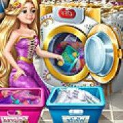 Игра Игра Рапунцель стирает одежду