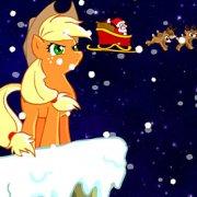 Игра Игра Пони Эпплджек спасает Рождество