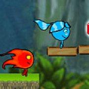Игра Игра Огонь и Вода в лесу энергии