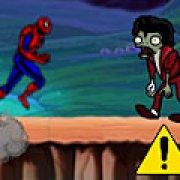 Игра Игра Спайдермен бежит от зомби 2
