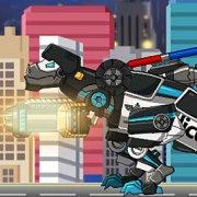Игра Игра Роботы динозавры: полицейский Тарбозавр