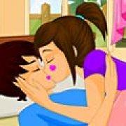 Игра Игра Поцелуи влюбленных в спальне