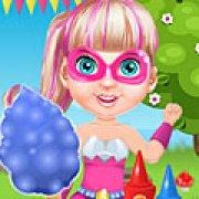 Игра Игра Малышка Барби супергерой готовит сладкую вату