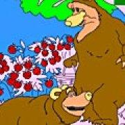 Игра Игра Раскраски: медведи собирают малину