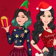 Игра Игра Одевалка: Новый год с Кардашьян