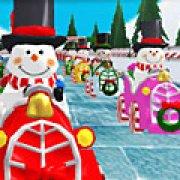 Игра Игра Новогодние гонки снеговиков