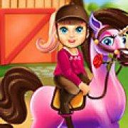 Игра Игра Малышка Барби супергерой уход за пони