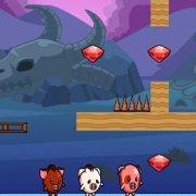 Игра Игра Приключение свинок на троих