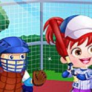 Игра Игра Малышка Хейзел играет в бейсбол
