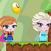 Игра Игра Холодное сердце: Эльза Анна и Олаф едят фасоль