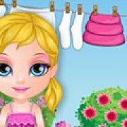 Игра Игра Малышка Барби стирка