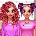 Игра Игра Розовый макияж подружек