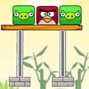 Игра Игра Angry birds против зеленых свиней