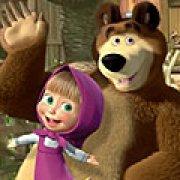 Игра Игра Маша и Медведь: крестики-нолики