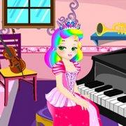 Игра Игра Принцесса Джульетта: урок пианино
