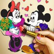 Игра Игра Микки Маус и Минни: онлайн книга раскраска