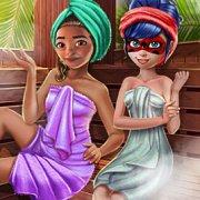 Игра Игра Леди Баг и Моана в сауне