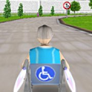 Игра Игра 3Д гонка на инвалидной коляске