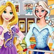 Игра Игра Эльза и Рапунцель в магазине
