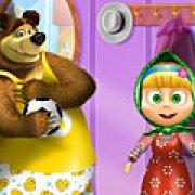 Игра Игра Маша и Медведь одевалки