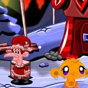 Игра Игра Счастливая обезьянка: Уровень 484 Рождественская Звезда