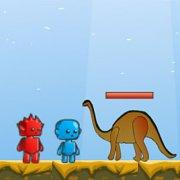 Игра Игра Огонь и Вода в мире динозавров