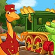 Игра Игра Гонки поезд динозавров