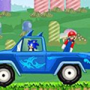 Игра Игра Соник спасает Марио