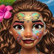 Игра Игра Принцесса Моана: экзотический макияж