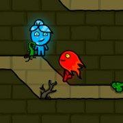 Игра Игра Огонь и Вода в лесном храме на планшет