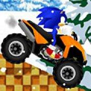 Игра Игра Соник на квадроцикле: снежный водила