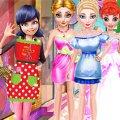 Игра Игра Леди Баг делает прически принцессам Диснея