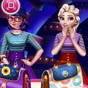 Игра Игра Леди Баг и Эльза на конкурсе сумочек
