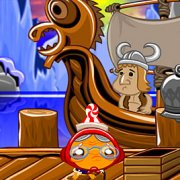 Игра Игра Счастливая обезьянка: Уровень 444 Викинг Ледяной Король Часть 1