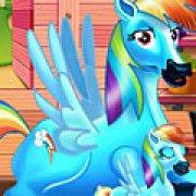 Игра Игра Радуга Дэш рожает пони