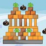 Игра Игра Angry birds против зеленых свиней 2
