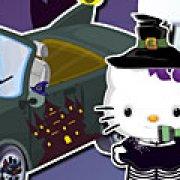 Игра Игра Хелло Китти моет машину на Хэллоуин