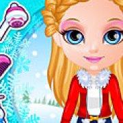 Игра Игра Малышка Барби зимние прически