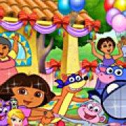 Игра Игра День рождение Доры: скрытые буквы