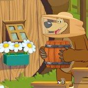 Игра Игра Маша и Медведь мед для Мишки