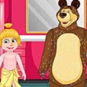 Игра Игра Маша и Медведь идут в школу