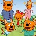 Игра Игра Три Кота Пикник: Онлайн Пазл